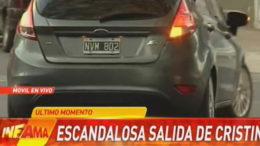Cristina Kirchner custodios atropellan TN