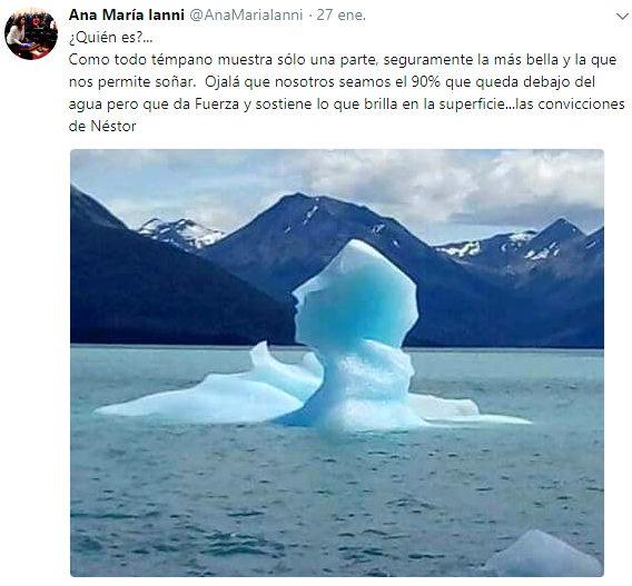 Néstor Kirchner iceberg