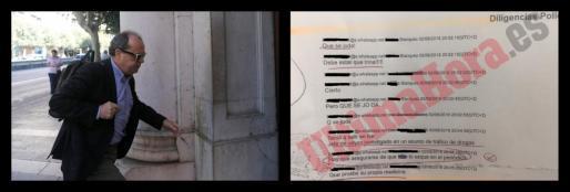 Los policías de Blanqueo investigados, sobre la falsa acusación al inspector jefe Suárez