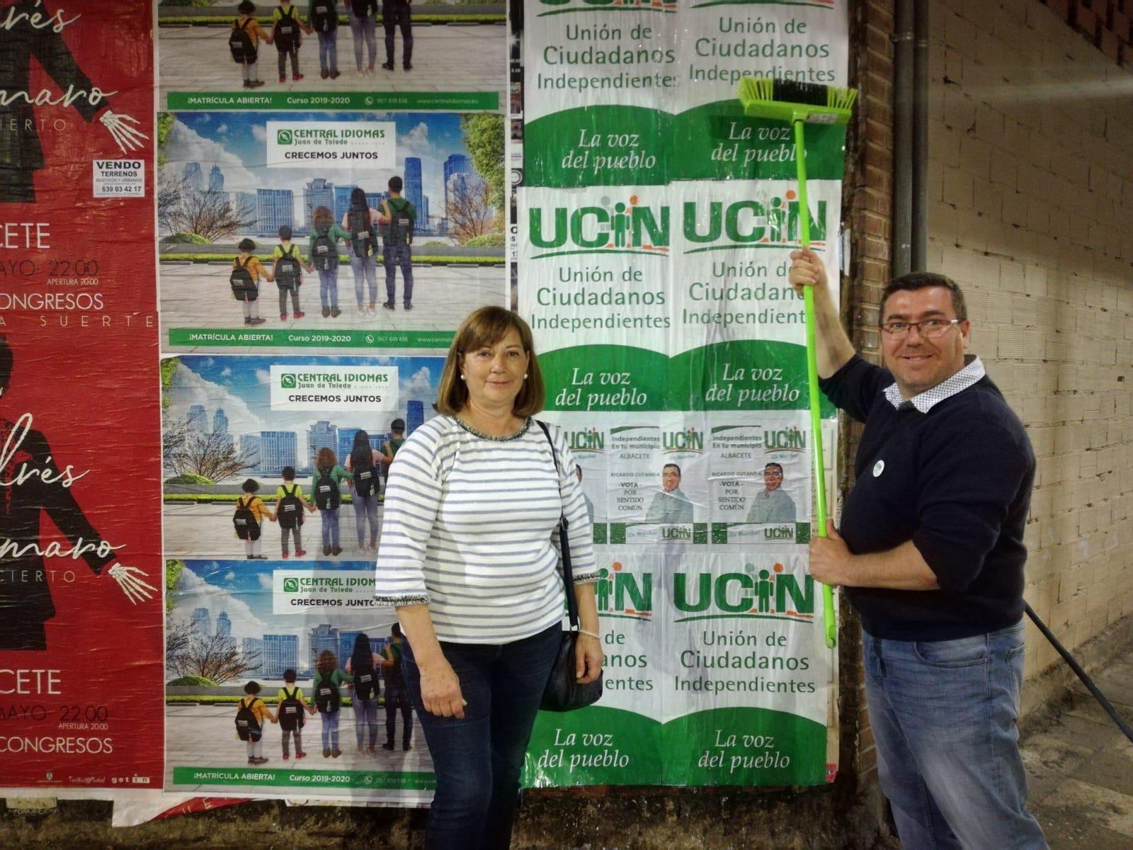 UCIN ALBACETE denuncia juego sucio en los carteles electorales