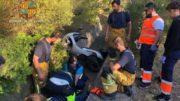 Rescate de un hombre de «grandísima corpulencia» que cayó a una zanja