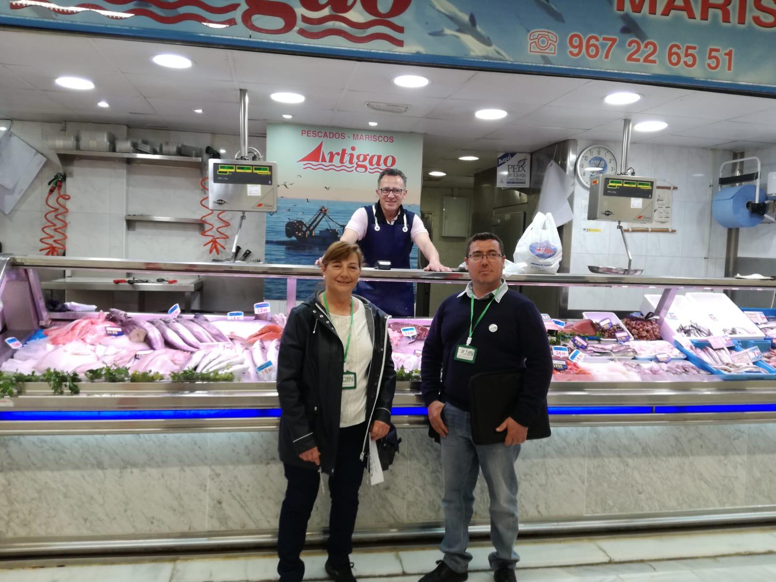 UCIN Albacete, visita el mercado de VILLACERRADA y recoge las quejas de los comerciantes