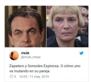 LA MUJER DE ZAPATERO INSPIRA LOS MEJORES MEMES EN EL FUNERAL DE RUBALCABA