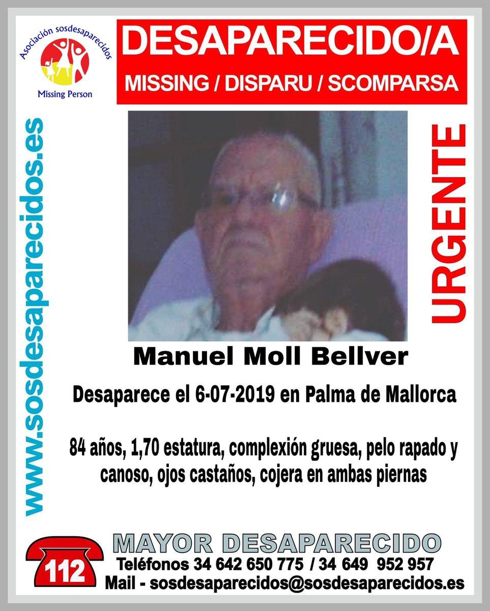Buscan a Manuel Moll, un hombre de 84 años desaparecido en Palma