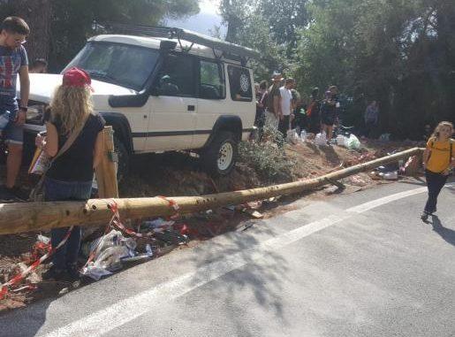 Accidente en la Pujada al Puig Major